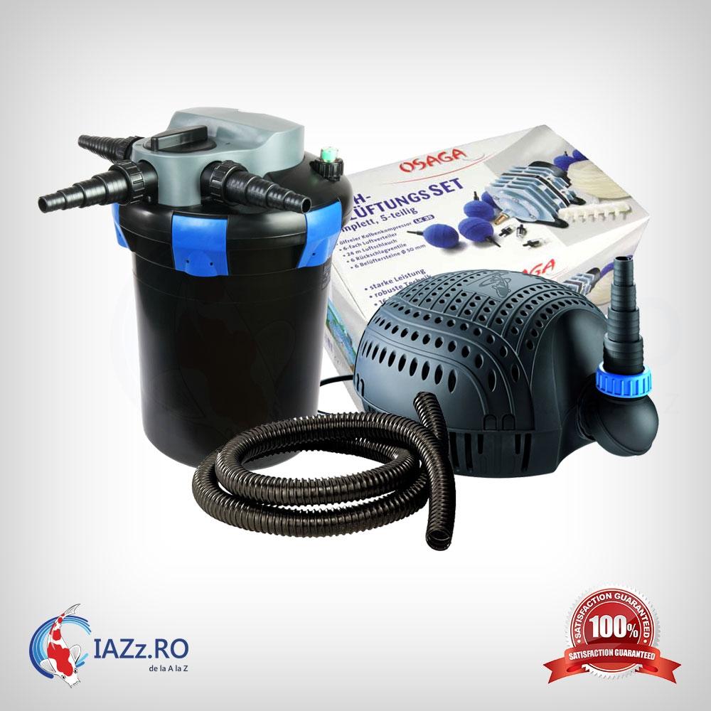 Set filtrare iaz 9000 litri model 2