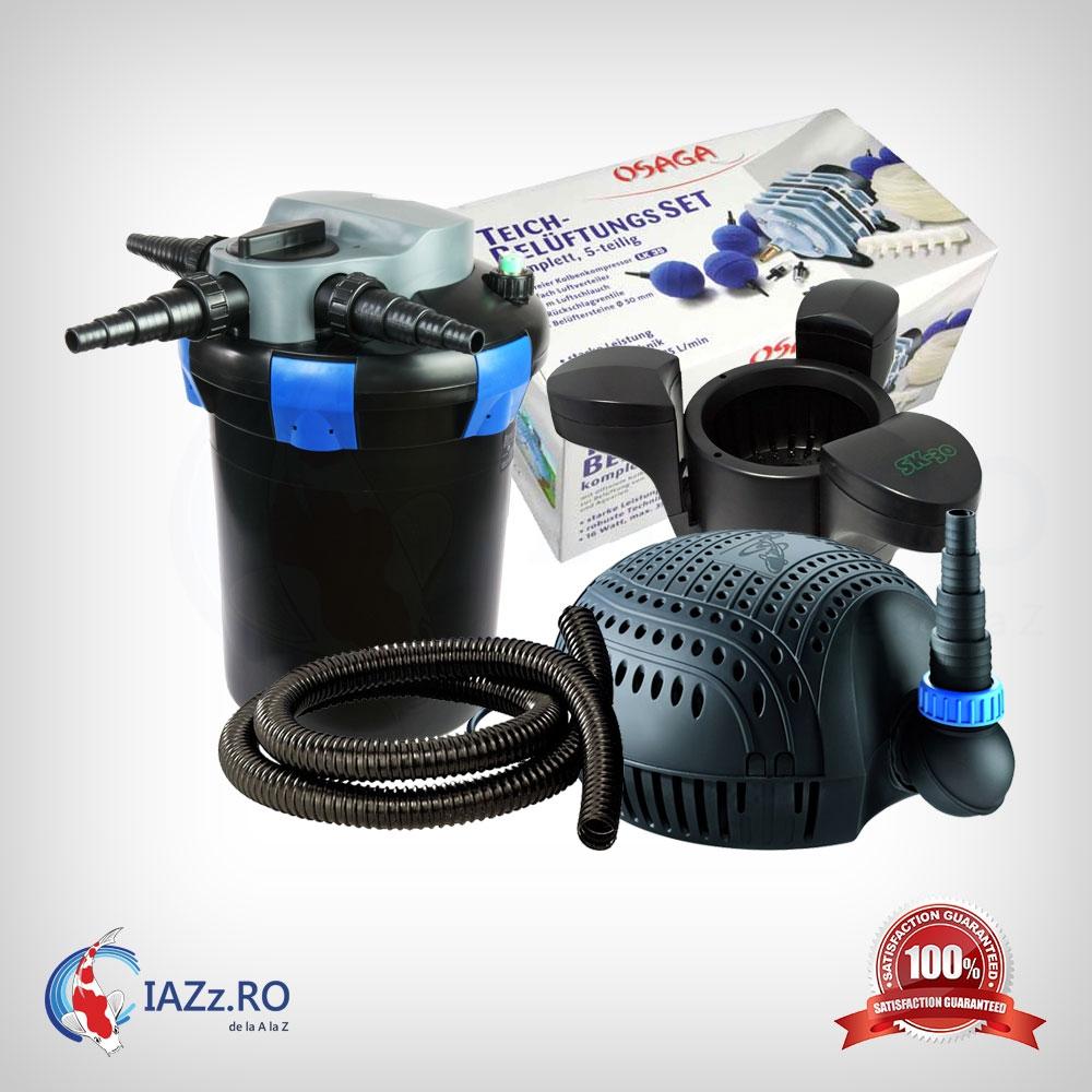 Set filtrare iaz 9000 litri model 4