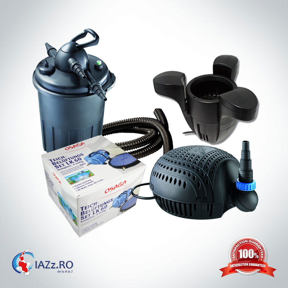 Set filtrare iaz 15000 litri model 4