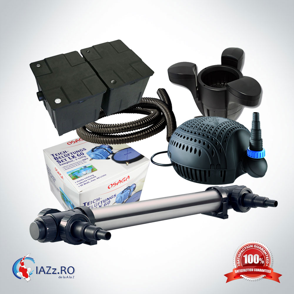 Set filtrare iaz 60000 litri model 8